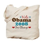 Vote Obama 2008 For Change Tote Bag