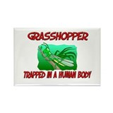 Grasshopper trapped in a human body Rectangle Magn
