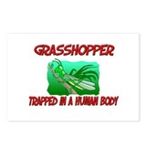 Grasshopper trapped in a human body Postcards (Pac