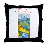 Istanbul Flyer Throw Pillow