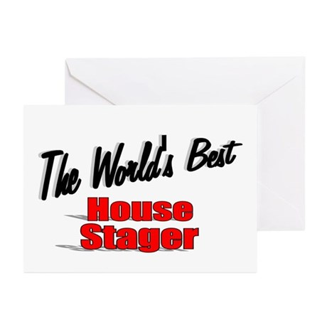 """The World's Best House Stager"" Greeting Cards (Pk"
