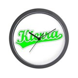 Retro Kierra (Green) Wall Clock