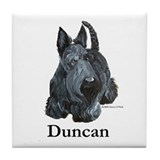 "Scottish Terrier ""Duncan"" Tile Coaster"