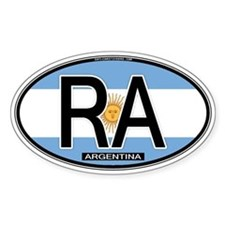 Argentina Oval Colors Oval Decal