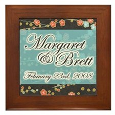 """Margaret & Brett"" Wedding Framed Tile"