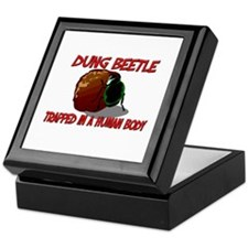 Dung Beetle trapped in a human body Keepsake Box