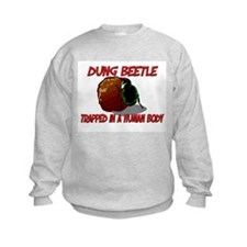 Dung Beetle trapped in a human body Sweatshirt