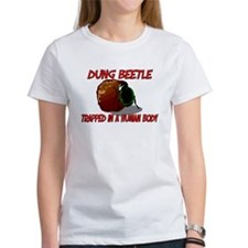 Dung Beetle trapped in a human body Tee