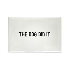 The dog did it Rectangle Magnet (100 pack)