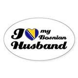 I love my Bosnian Husband Oval Decal