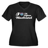 I love my Fijian Husband Women's Plus Size V-Neck