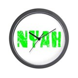 Nyah Faded (Green) Wall Clock