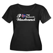I love my Icelandic Husband Women's Plus Size Scoo