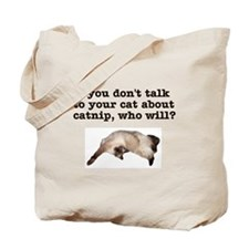 Talk to Your Cat Tote Bag