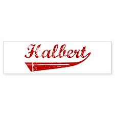 Halbert (red vintage) Bumper Bumper Sticker