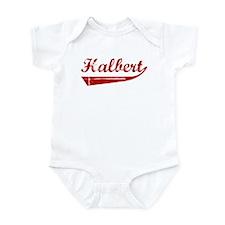 Halbert (red vintage) Infant Bodysuit