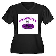 Funny Property of angie Women's Plus Size V-Neck Dark T-Shirt