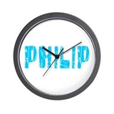 Philip Faded (Blue) Wall Clock