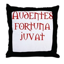 Fortune favors the bold Throw Pillow
