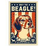 Obey the Beagle! American Large Poster