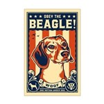 Obey the Beagle! USA Mini Poster Print