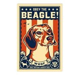 Obey the Beagle! Postcards USA (Pack of 8)
