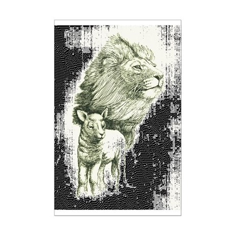 LION AND LAMB COLORING PAGES