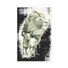 Lion and the lamb Rectangle Decal