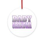Baby Grandma Ornament (Round)