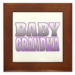 Baby Grandma Framed Tile