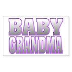 Baby Grandma Rectangle Sticker