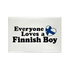Everyone Loves a Finnish Boy Rectangle Magnet