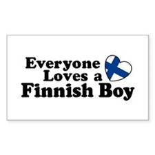 Everyone Loves a Finnish Boy Rectangle Decal