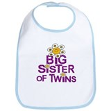 Cute Big Sister of TWINS Bib