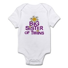Cute Big Sister of TWINS Infant Bodysuit
