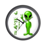 Alien Peace Dudes 9 Wall Clock