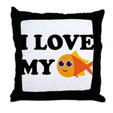 Pet Goldfish Throw Pillow