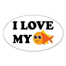 Pet Goldfish Oval Decal