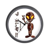 Alien Peace Dudes 21 Wall Clock
