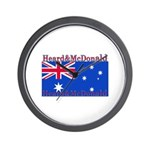 Heard & McDonald Flag Wall Clock