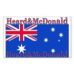 Heard & McDonald Flag Rectangle Sticker 10 pk