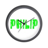 Philip Faded (Green) Wall Clock
