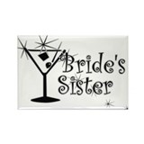 Black C Martini Bride's Sister Rectangle Magnet