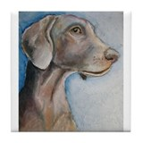 Greta a Weimaraner Tile Coaster