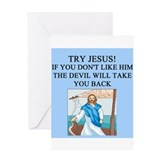 christian gifts t-shirts Greeting Card