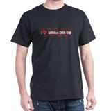 I heart Australian Cattle Dogs Red T-Shirt