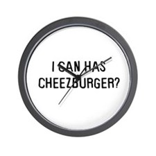 I can has cheezburger? Wall Clock