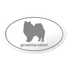 Got American Eskimo? Oval Decal