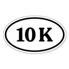 10 K Oval Sticker (50 pk)