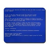 Blue Screen of Death Mousepad